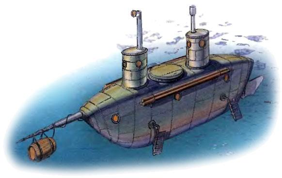 кто изобрел подводную лодку и в каком году